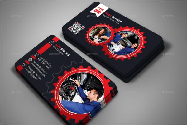 Auto Services Business Card Design