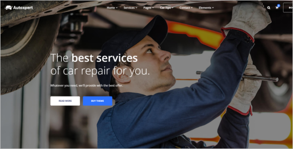Auto Services WordPress Theme