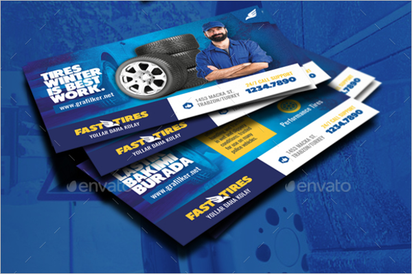Auto Shop Business Card Template