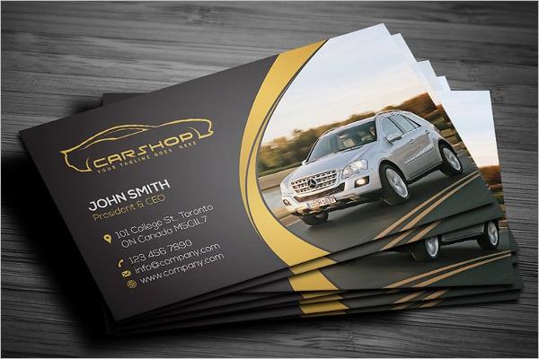 Auto Shop Photoshop Template