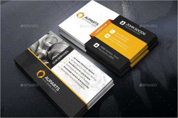 Auto Spare Business Card Template