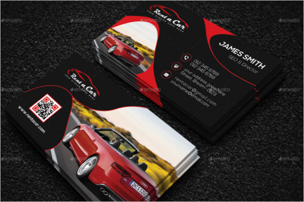 Automobile Business Card Template