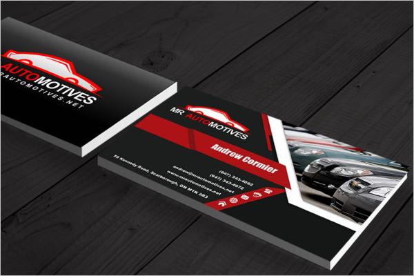Automotive Business Card Free Design