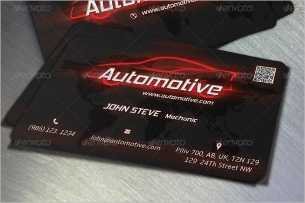 Automotive Business Card PSD Design