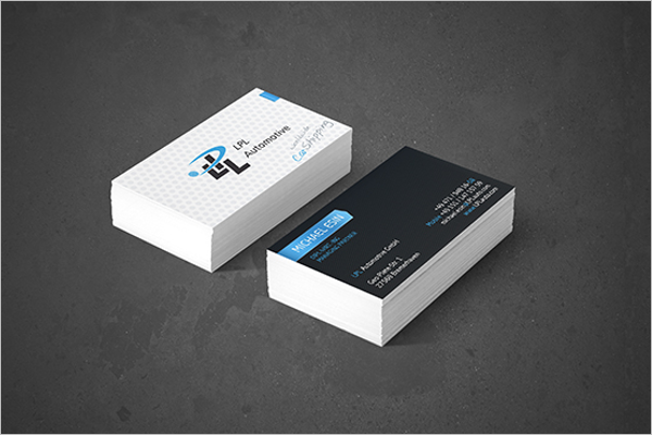 30 automotive business card templates free psd design samples