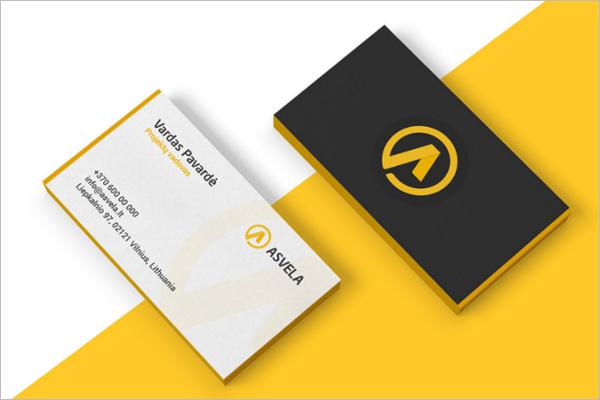 Automotive Business Card Sample