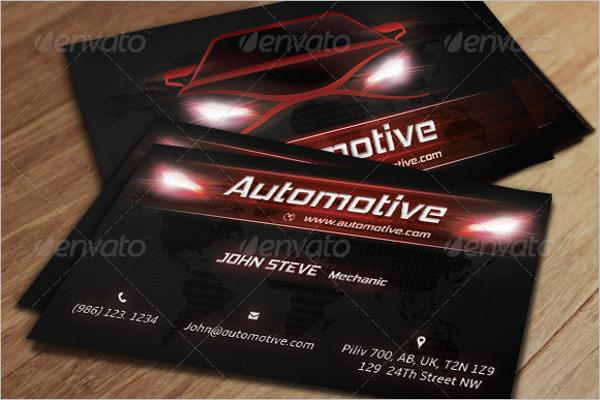 Automotive Business Card Vector