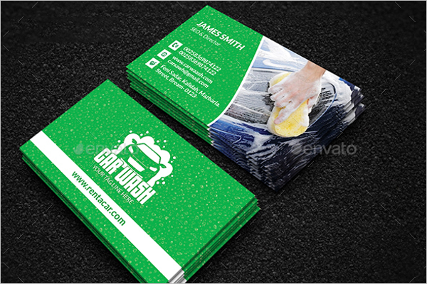 Automotive Business Card Vector Design
