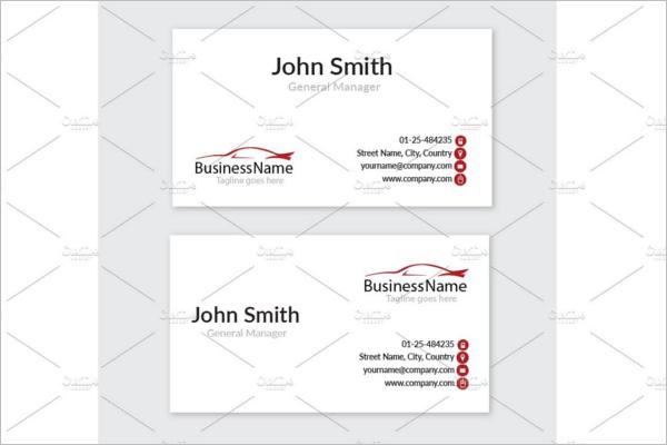 Automotive Mechanic Business Card Template