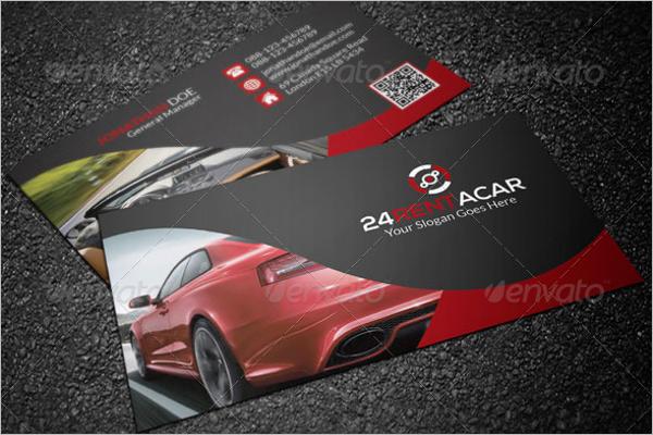 Automotive Report Business Card Template