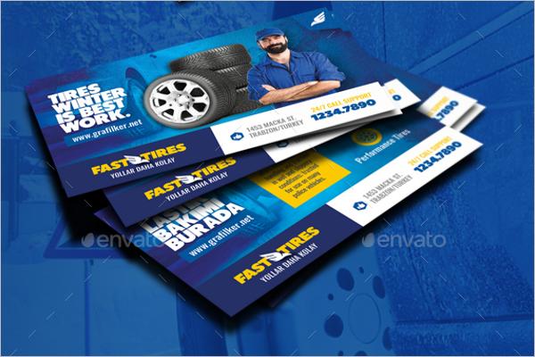 Automotive Technical Business Card Template