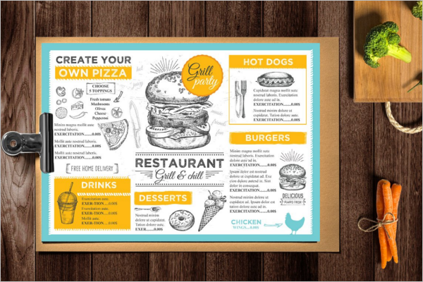 Awesome Menu Card Design