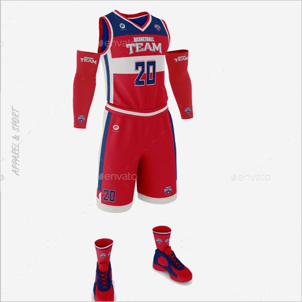 Basketball Apparel Mockup Design