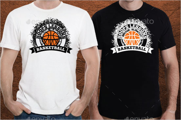 Basketball T-Shirt Mockup PSD
