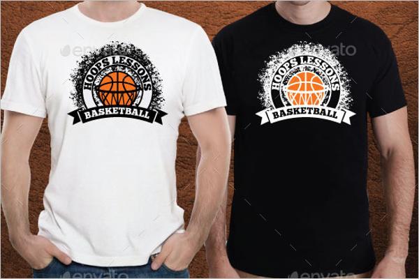 Basketball T-Shirt Mockup PSD