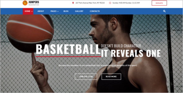 Basketball Game Joomla Template