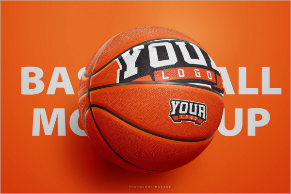 Basketball Mockup Free PSD