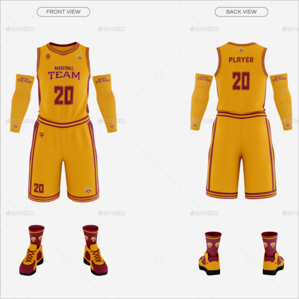 Basketball Player Mockup Design