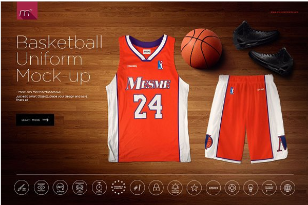 Basketball Uniform Mock-up