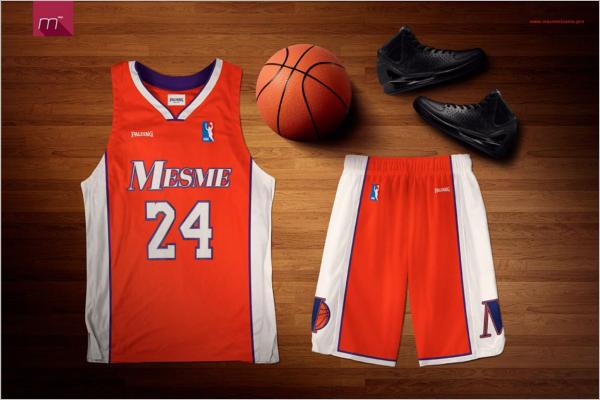 Basketballballer Mockup Design