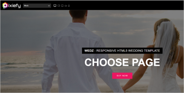 Beautiful HTML5 Wedding Template
