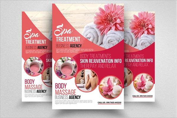Beauty Spa Microsoft Word Brochure Template
