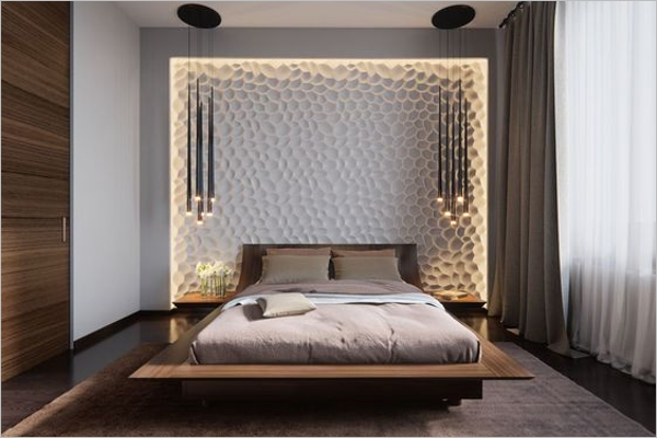 Bedroom Glass Texture Design