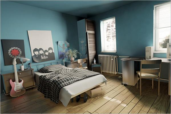 Bedroom Wall Paint Texture Design
