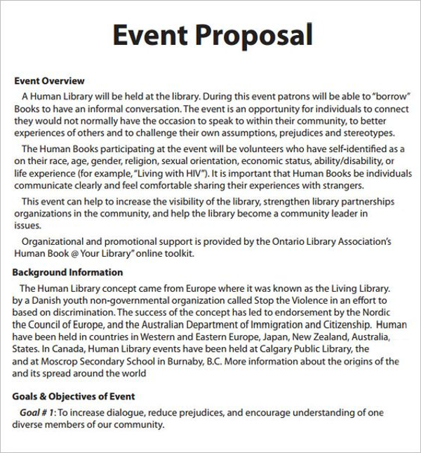 best event proposal template