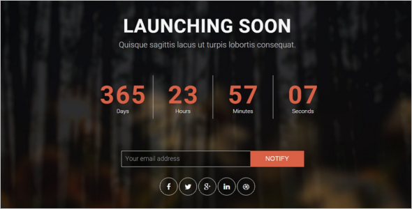 Best HTML5 Coming Soon Theme