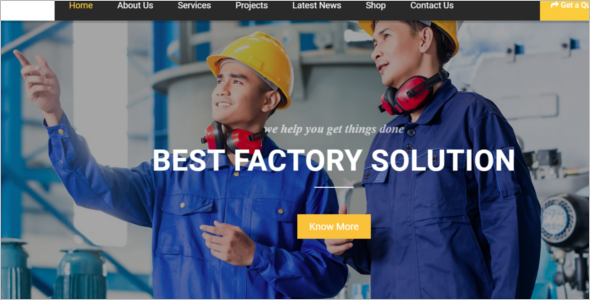 Best Industrial HTML5 Template