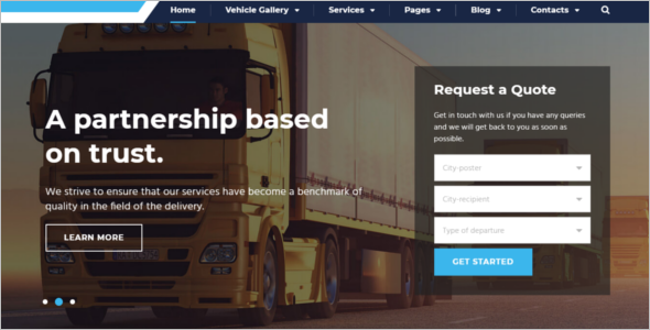 Best Logistics HTM5 Template