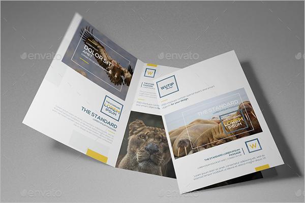 Bi-Fold A4 Brochure Mockup Template