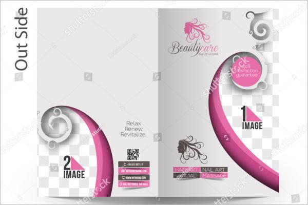 Bifold Beauty Brochure Design Free