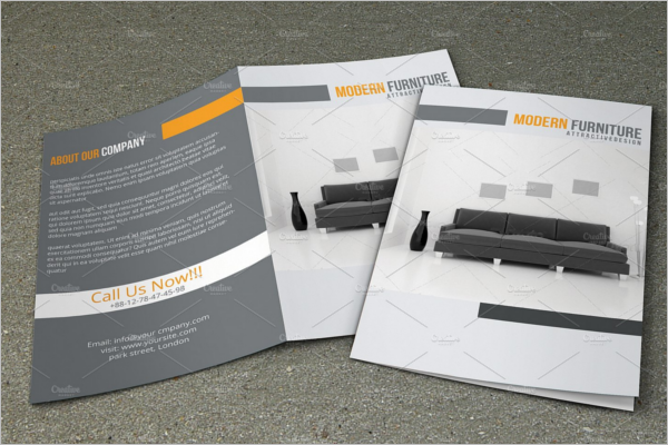 Bifold Interior Brochure Template