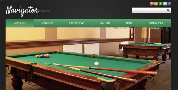Billiards Game Joomla Template