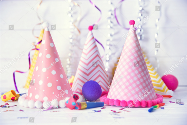Birthday Party Cap Decoration Design