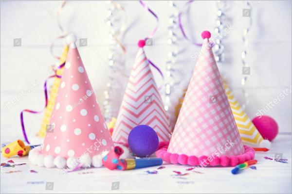 Birthday Party Cap Decoration Design