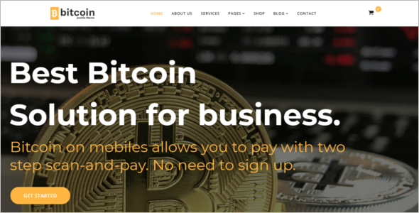 Bitcoin Ecommerce Joomla Template