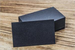 Black Business Card Mockup Design