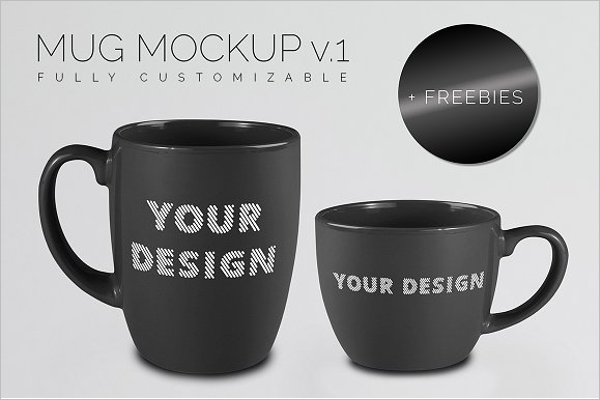 Black Mug Mockups