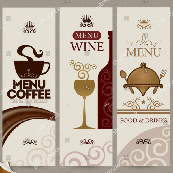 Blank Drink Menu Card Template