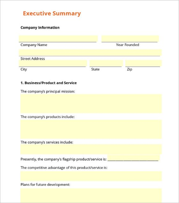 32 executive summary templates free word ppt pdf formats blank executive summary template cheaphphosting Choice Image