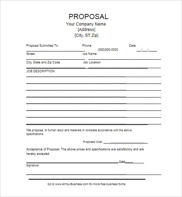 Blank Grant Proposal Template