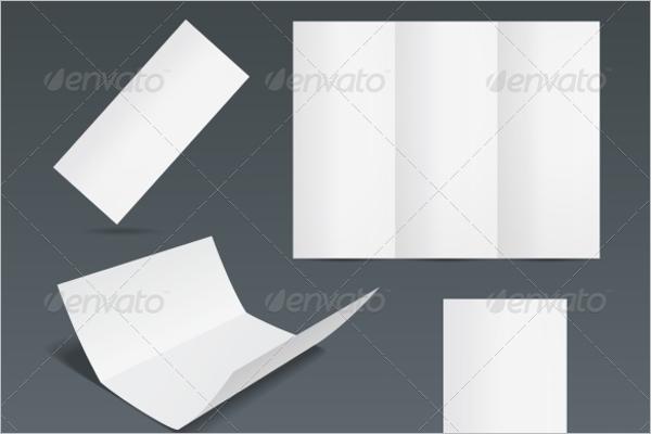 Blank Leaflet Design Template