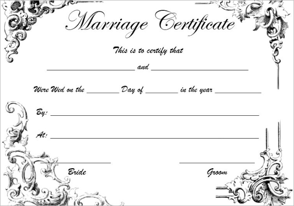 Vibrant image inside printable marriage licenses