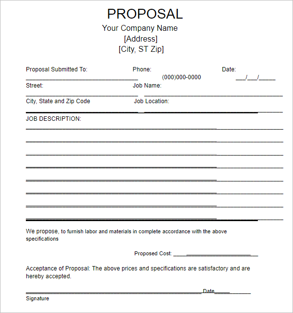 Blank Research Proposal Template