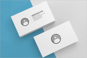 Blank Visiting Cards Mockup Design