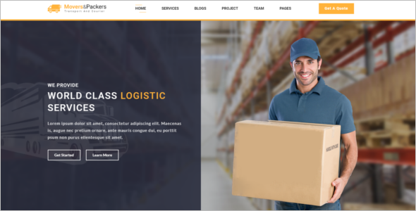 Bootstrap HTML5 Logistics Template