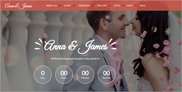 Bootstrap HTML5 Template for Wedding